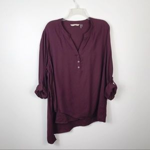 Soft Surroundings Popover Top Tab Sleeve Blouse